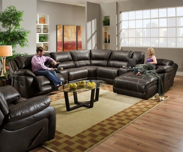 5 Piece Sectional Sofa With Chaise Brown Leather Sectionals Images 50