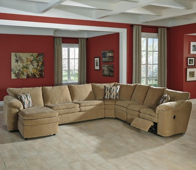 5 Piece Sectional Sofa With Chaise Casual Contemporary Reclining Picture 95
