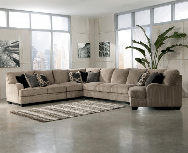 5 Piece Sectional Sofa With Chaise Design Ashley Katisha Platinum Photo 29