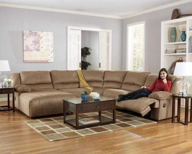 5 Piece Sectional Sofa With Chaise Hogan Mocha Reclining Images 62