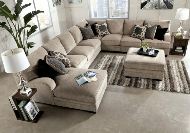 5 Piece Sectional Sofa With Chaise In Charcoal Furniture Hudson Pictures 48