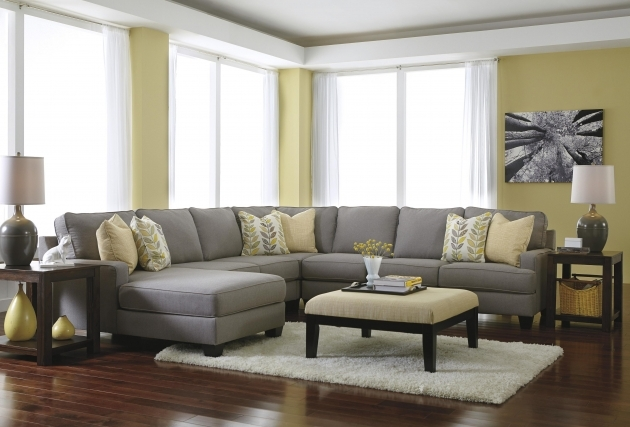 5 Piece Sectional Sofa With Chaise Modern Reversible Seat Pic 56
