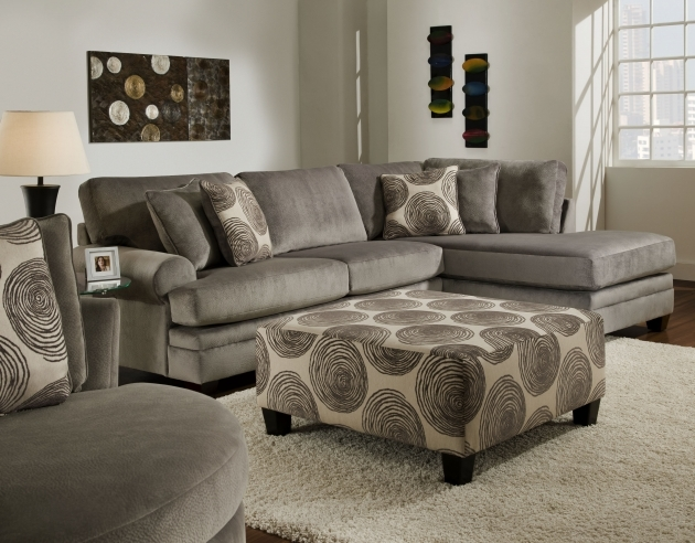 Awesome Sleeper Sofa Sectional With Chaise L Shaped Gray Velvet Pictures 15