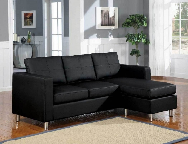 BlackLeather Sectional With Chaise Couch Pictures 48