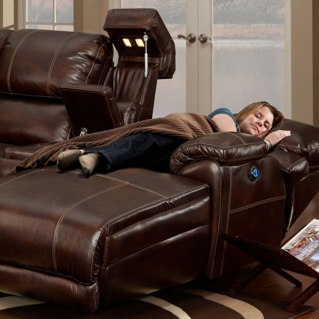 Brown Leather Sectional With Chaise And Recliners Images 88