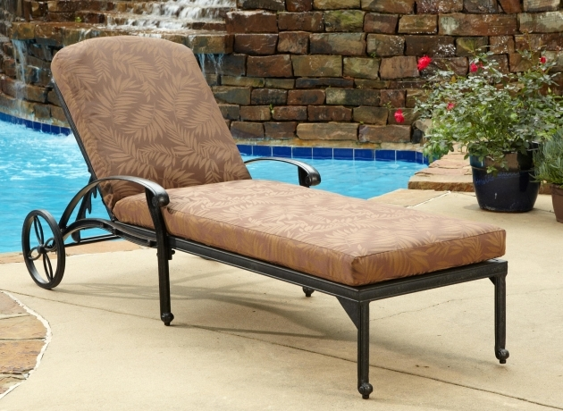Chaise Lounge Cushions Comfortable Style Of Outdoor Chaise Lounge Nuanced In Charming Brown An Wheels Picture 00