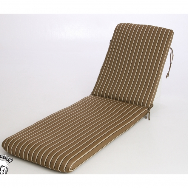 Chaise Lounge Cushions Phat Tommy Outdoor Sunbrella Striped Taupe And Brown Reversible Design Filled Images 74