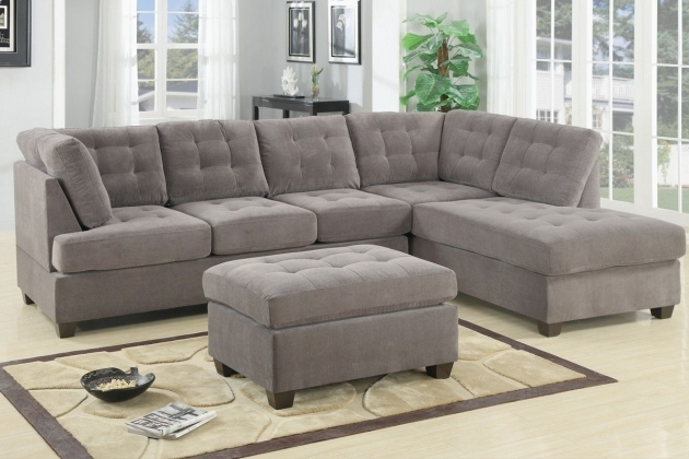 Charcoal Gray Sectional Sofa With Chaise Lounge And Cocktail Ottoman Pictures 65