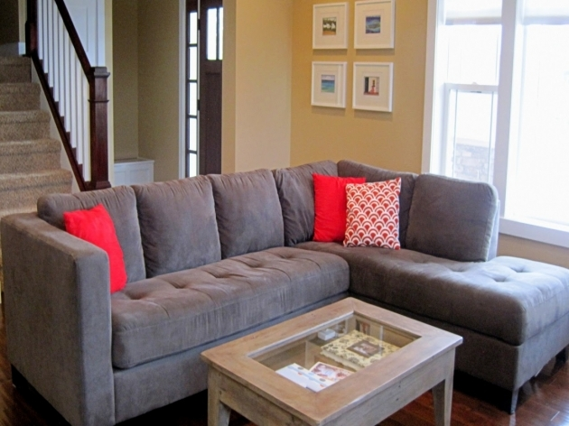 Charcoal Gray Sectional Sofa With Chaise Lounge Living Room Ideas Pic 01