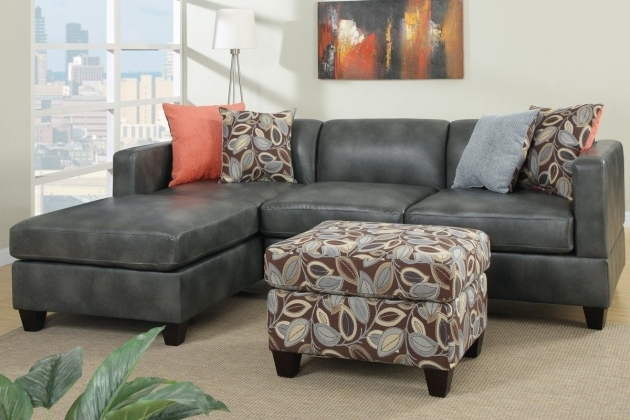 Charcoal Gray Sectional Sofa With Chaise Lounge Modern Vinyl Pics 13