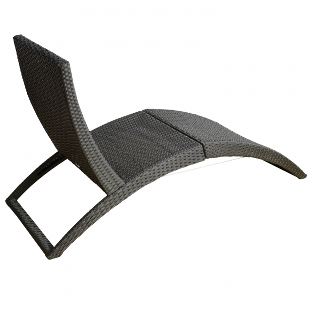 Folding Chaise Lounge Curved Outdoor Wicker Rattan Chaise Lounge Pictures 24