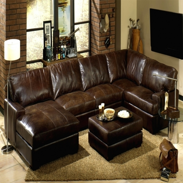 Leather Sectional With Chaise And Recliners  Brown Leather Sectional Sofas Picture 38