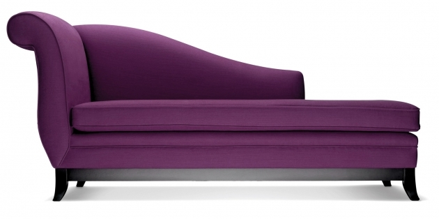 Modern Chaise Sofa Contemporary Purple Velvet For Living Room Design Photos 19