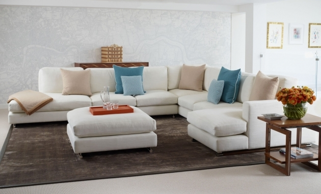 Modern Living Room White Leather Sectional With Chaise Photos 61