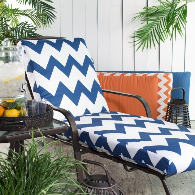 Outdoor Chaise Lounge Cushions Blue Coral Coast Valencia Boxed Edge Picture 52