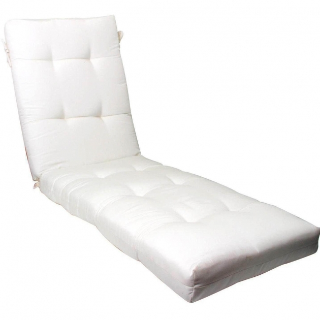 Outdoor Chaise Lounge Cushions White Ultimate Patio Extra Long Replacement Photo 55