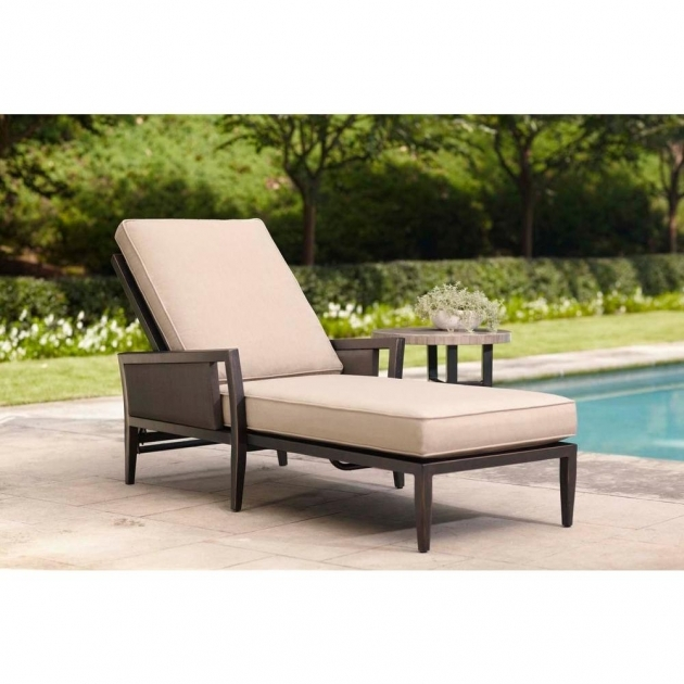Patio Chaise Lounge Brown Jordan Greystone With Sparrow Cushions Photo 68
