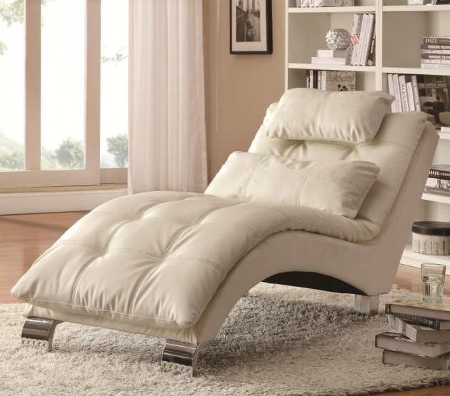 Single Chaise Lounge Sofa White Images 15
