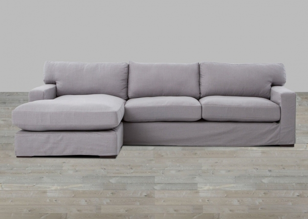 Sofa With Chaise Lounge Grey Linen Track Arm Sofas Pic 70