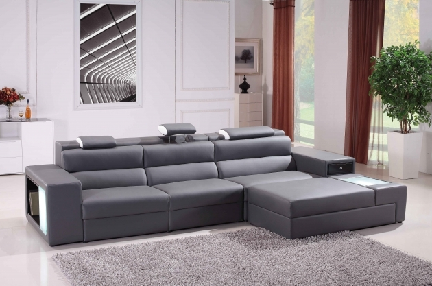 Sofa With Chaise Lounge Grey Sectional Inspiration Living Room Bonded Leather Photo 36