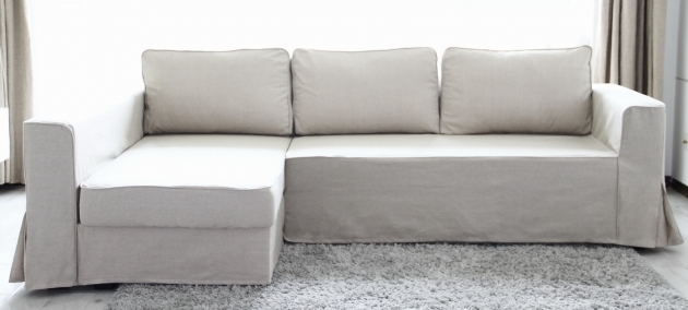 Sofa With Chaise Lounge High Quality Ikea White Leather Sofa 2 Kivik Photo 19