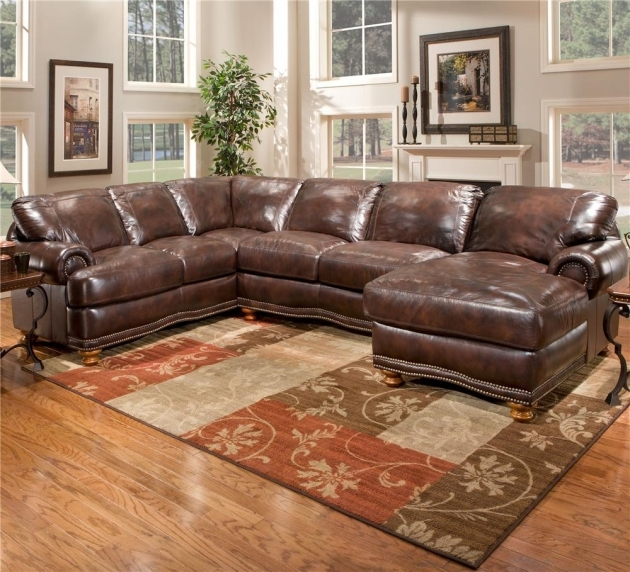 Stratford Olympus Leather Sectional With Chaise Sofa Picture 38