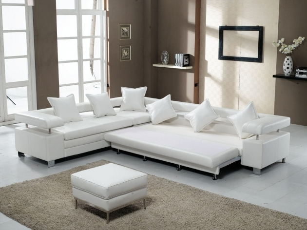 White Leather Sectional With Chaise Furniture 3 Piece Image 45