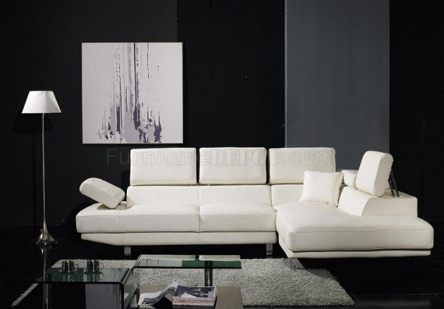 White Leather Sectional With Chaise Ideas Picture 01