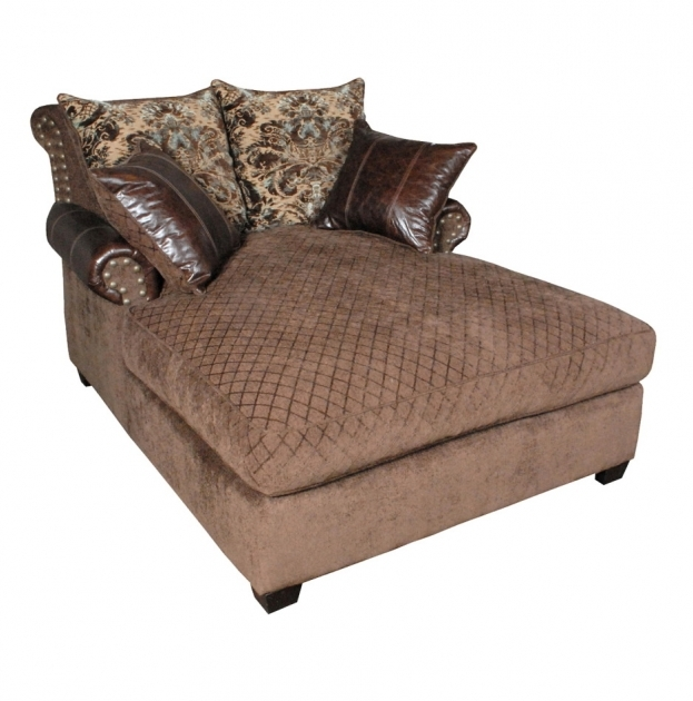 2 Person Chaise Lounge Indoor Made Of Decorative Brown Velvet And Leather Image 60
