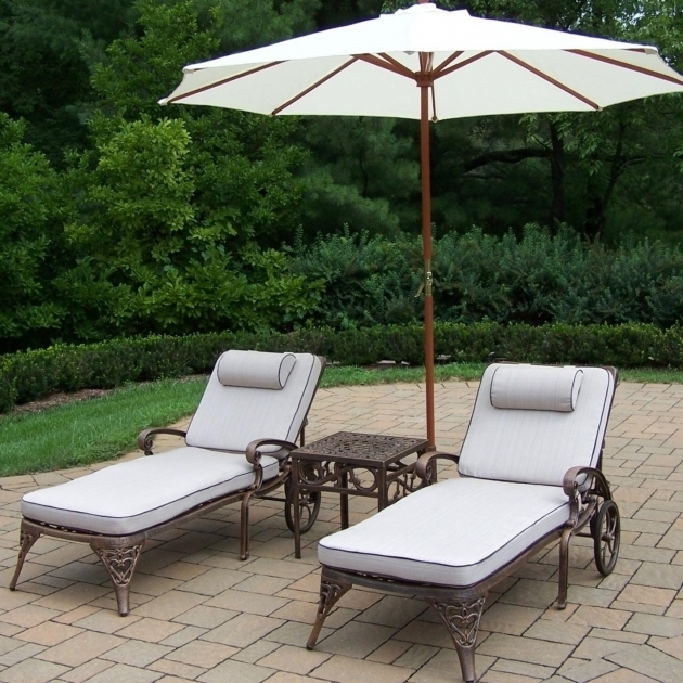 Aluminum Two Person Chaise Lounge Set With White Oatmeal Cushions Two Person Chaise Lounge 15