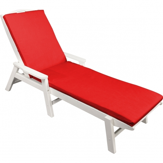 Ateeva Sunbrella Chaise Lounge Cushions Outdoor XUF010  Red Photo 16