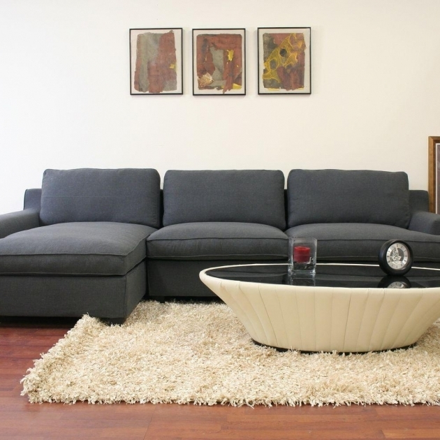 Baxton Studio Gray Sectional Sofa With Chaise Kaspar Twill Upholstered Modern 3 Piece Sectional  Photos 76