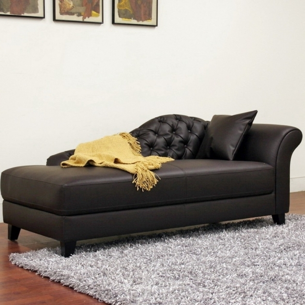 Black Leather Chaise Lounges For Bedrooms With Victorian Style On Grey Rug And Laminated Wood Flooring Ideas Pictures 93