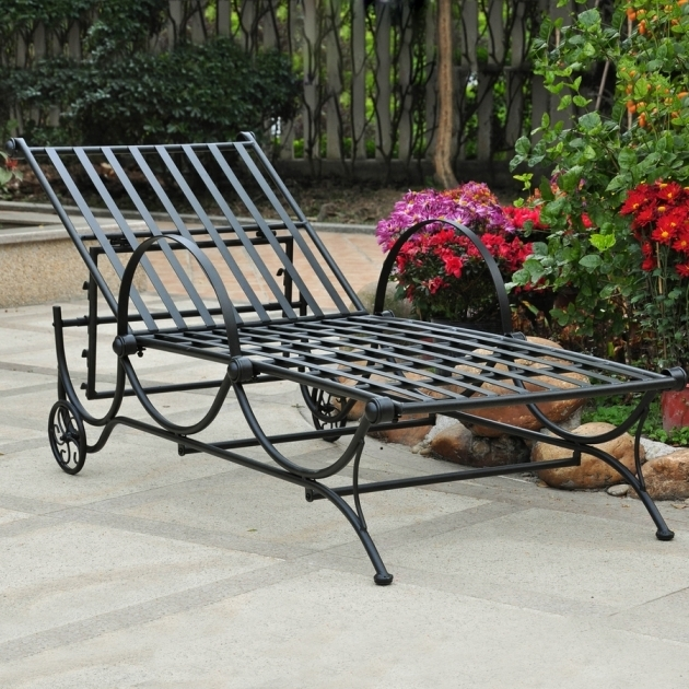 Caravan Patio Wrought Iron Chaise Lounge Chairs Image 74