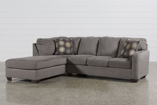 L Shaped Gray Sectional Sofa With Chaise Short Black