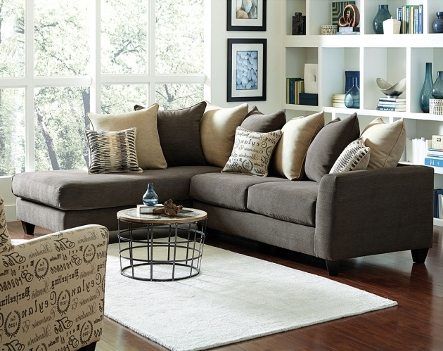 Charcoal Gray Sectional Sofa With Chaise Two Piece Photo 84
