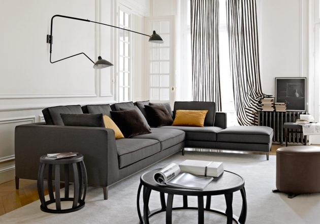 Contemporary Gray Sectional Sofa With Chaise Living Room Furniture Ideas Picture 88