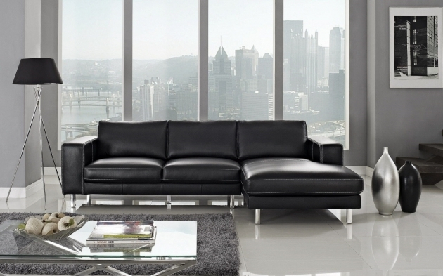 Contemporary Leather Sectional Sleeper Sofa With Chaise High Quality Furniture Photo jolenesart52