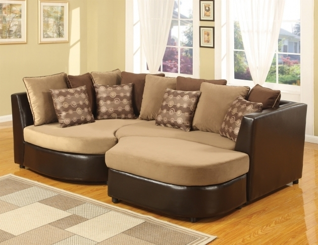 Dark Brown Leather Based Frame Oversized Chaise Lounge Sofa With Ligh Brown Velvet Seat Images 85