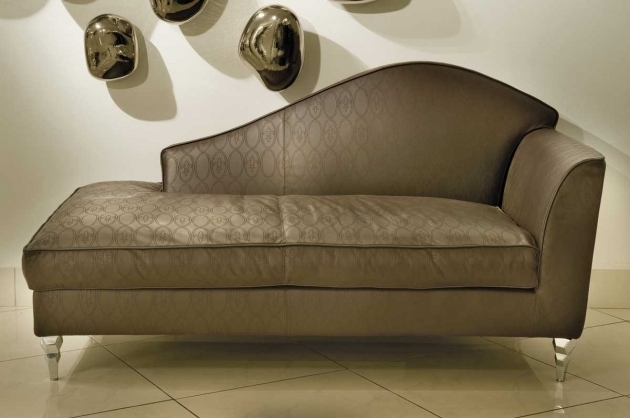 Dark Brown Pattern Fabric Chaise Lounges For Bedrooms Backrest And Curvy Armrest Pictures 56