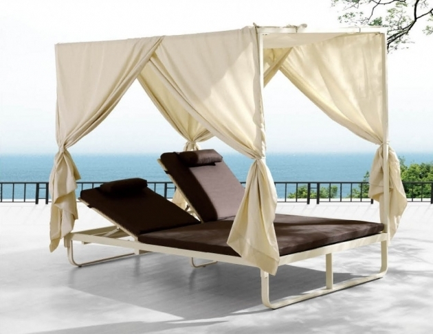 Double Outdoor Chaise Lounge Chair Picture 72