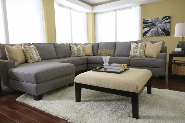 Elegant Gray Leather Sectional Sleeper Sofa With Chaise Photo jolenesart67