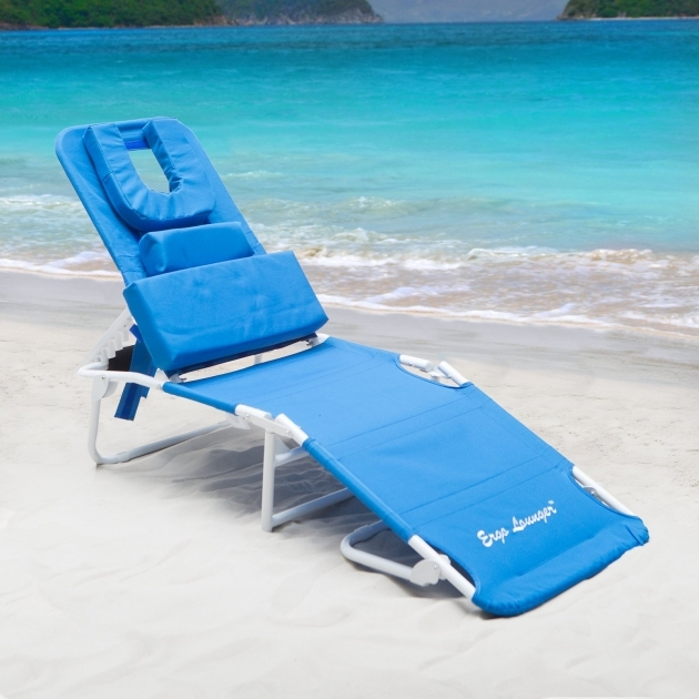 Ergo Lounger Chaise Lounge Beach Chair Blue Image 92