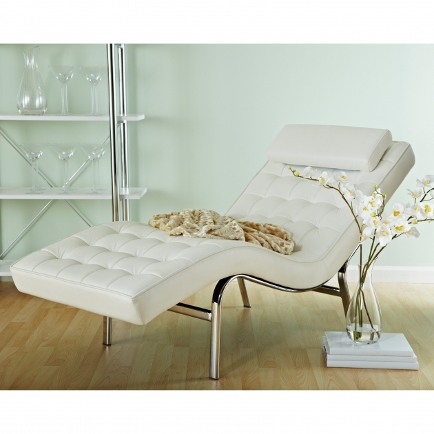 Euro Style Valencia Leather Indoor Chaise Lounge Image 65