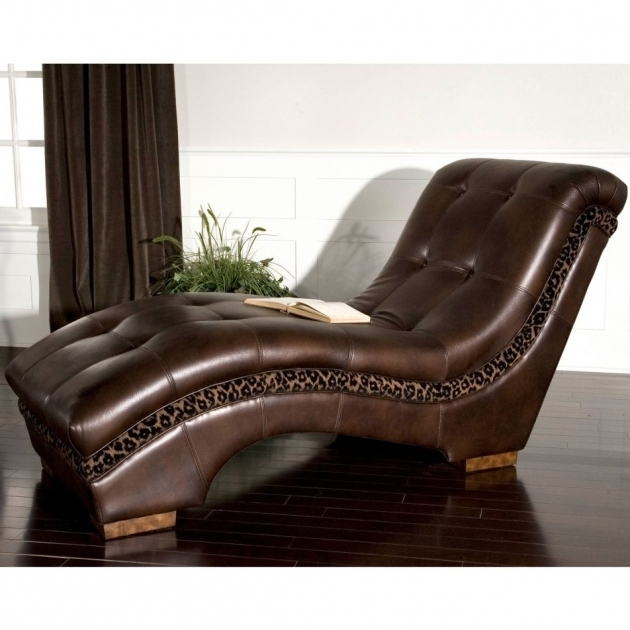 Extra Wide Chaise Lounge Leopard Print And Brown Leather Chair On High Gloss Finish Parquet Floor Pictures 66