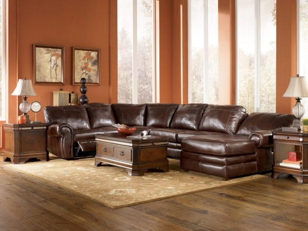 Fetching Leather Reclining Genuine Leather Sectional With Chaise Furniture Homemade Ideas Photos 16