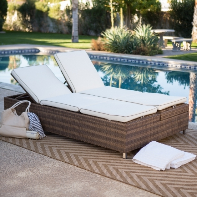 Furniture Elegant Design Of Double Chaise Lounge Outdoor For Pictures 85