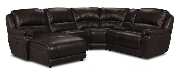 Genuine Leather Sectional With Chaise And Left Facing Inclining Chaise Photo 58