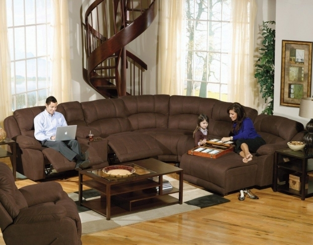 Genuine Leather Sectional With Chaise Recliner And Modern Images 97