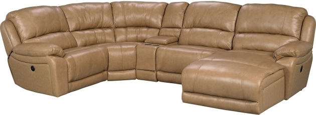 Genuine Leather Sectional With Chaise Right Facing Inclining Chaise Photos 48